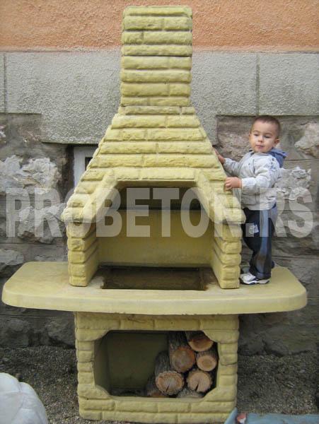 Betonski kamini i roštilji za dvorista u raznim bojama  PRO BETON